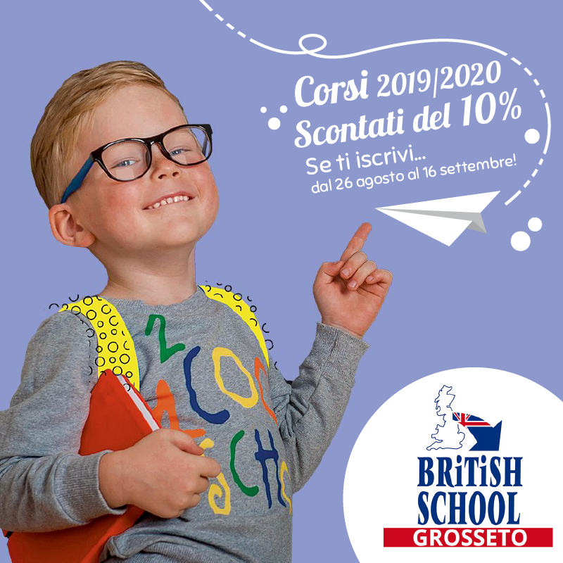 Iscrizioni corsi d'Inglese 2019/2020 per bambini, ragazzi e adulti.