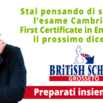 Vuoi sostenere l'esame Cambridge B2 First Certificate in English (FCE) a dicembre 2019?